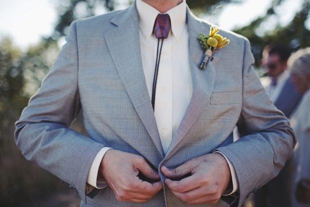 галстук белый тонкий