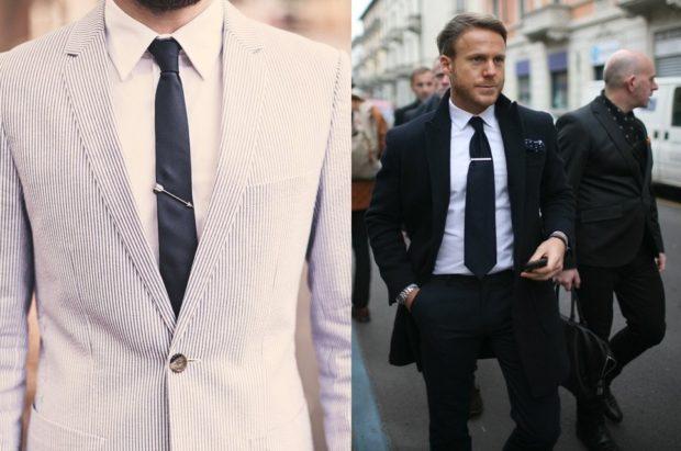 галстуки классические черные