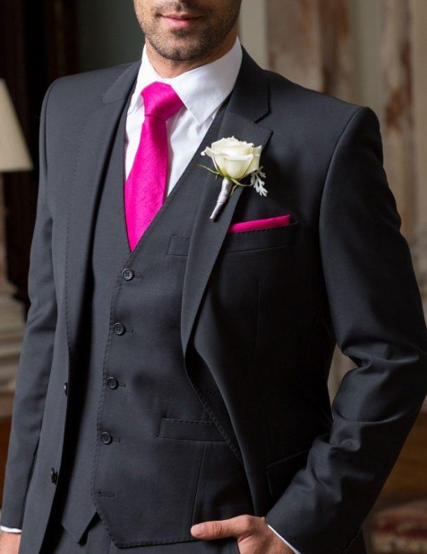 розовый галстук классика