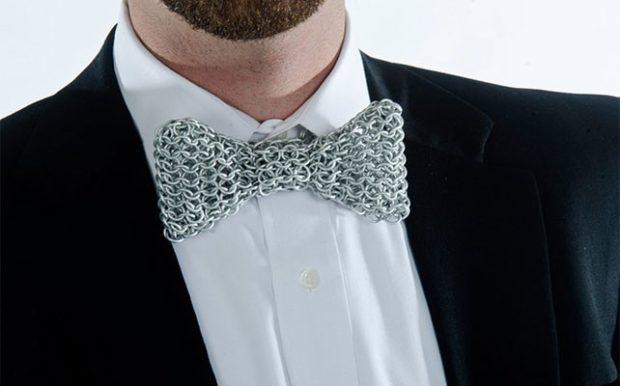 галстук бабочка из грубой нитки