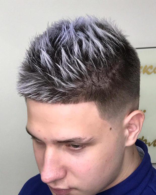 мужская стрижка волос: ежик