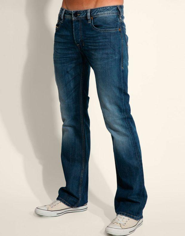 модные мужские джинсы 2020 2021: классические синие