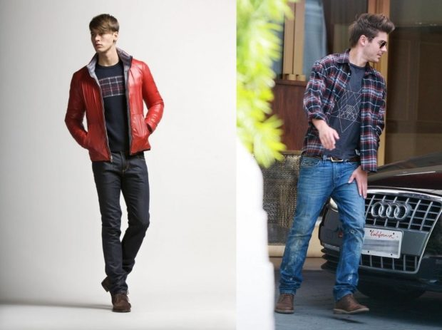 черные джинсы синие классика