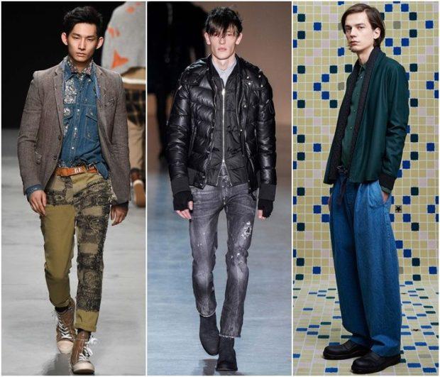 джинсы серые по фигуре синие широкие