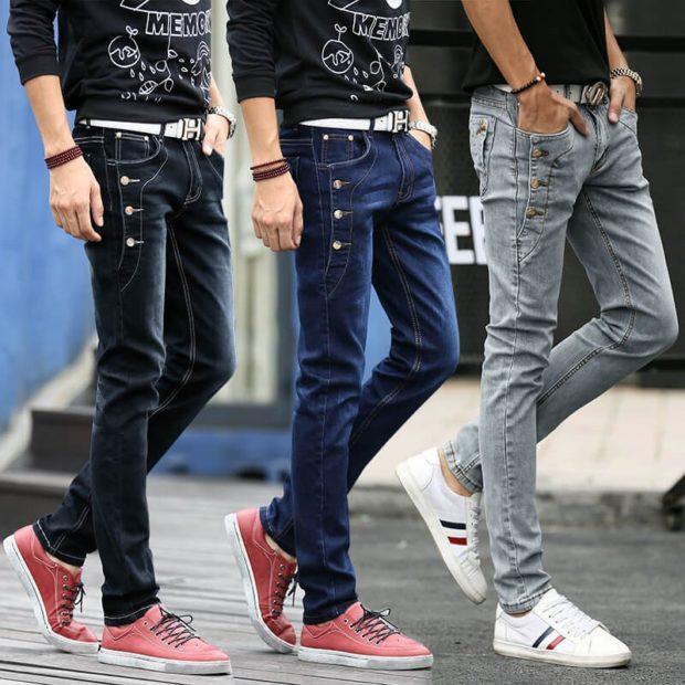 черные синие серые джинсы с пуговками
