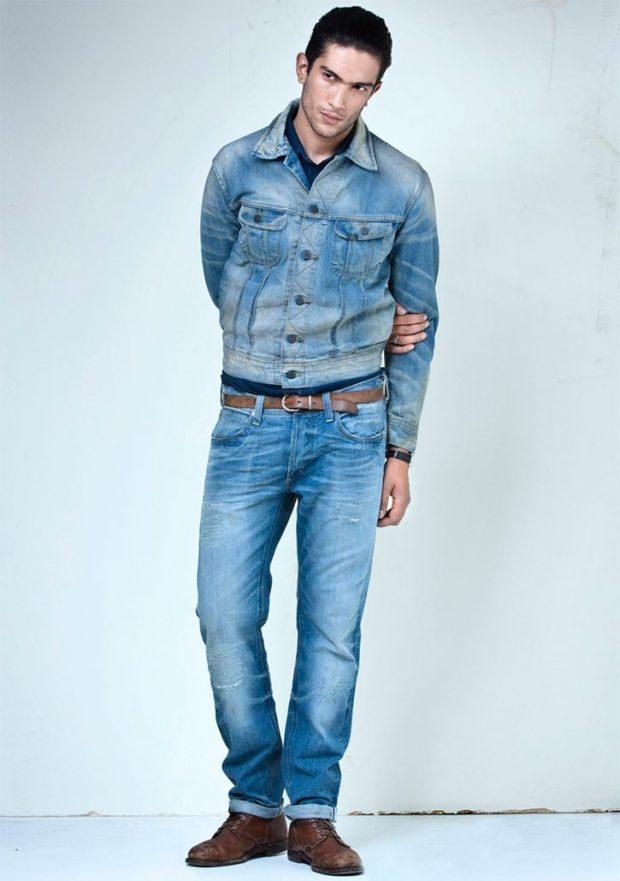 модные мужские джинсы 2021: классические синие