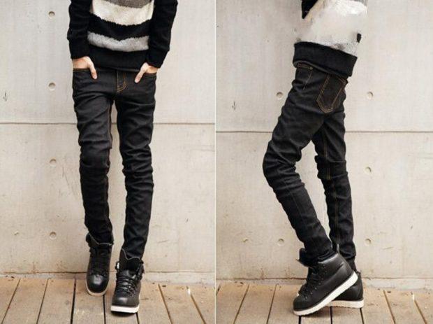черные джинсы прямые