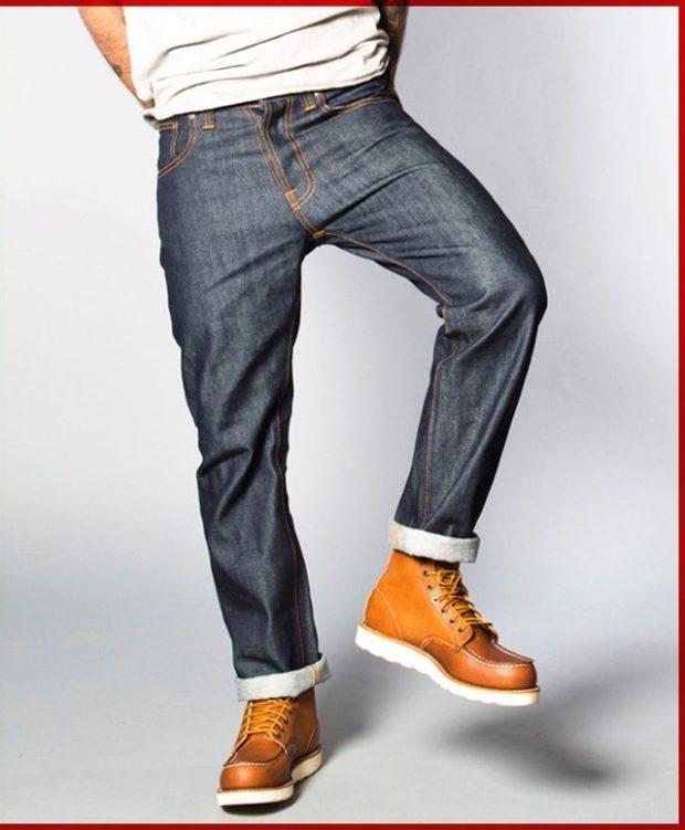 широкие штаны с манжетами