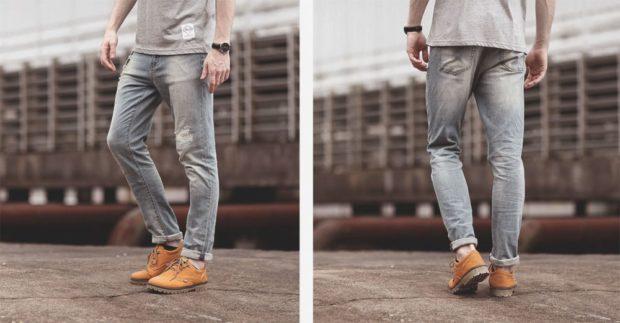 широкие прямые джинсы с манжетами