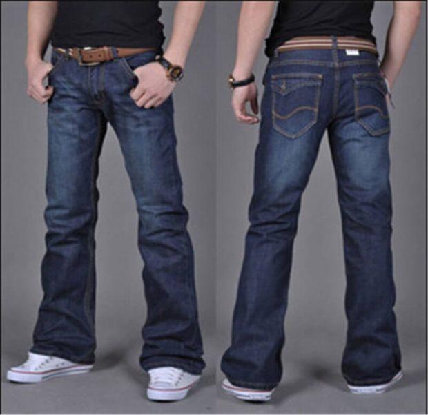джинсы клеш синие классика