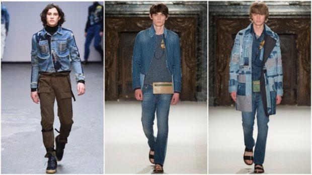 одежда из денима джинсовка синяя костюм синий пальто джинсовое штаны синие