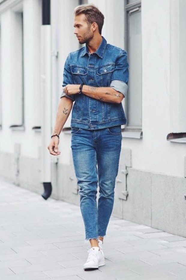 одежда из денима костюм синий короткие штаны