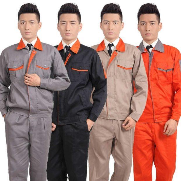 стиль автомеханик костюмы серый черный коричневый оранжевый