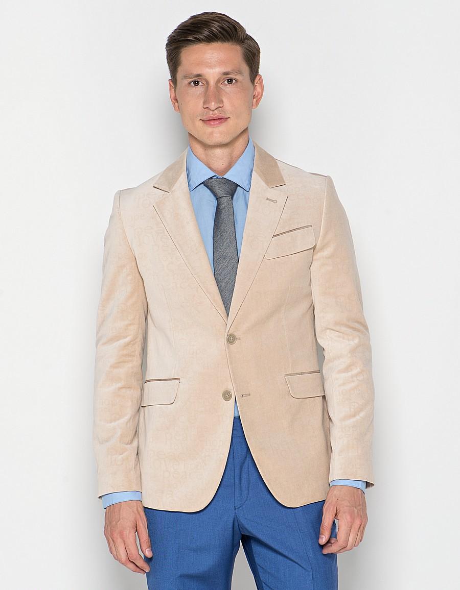 светлый пиджак сине штаны