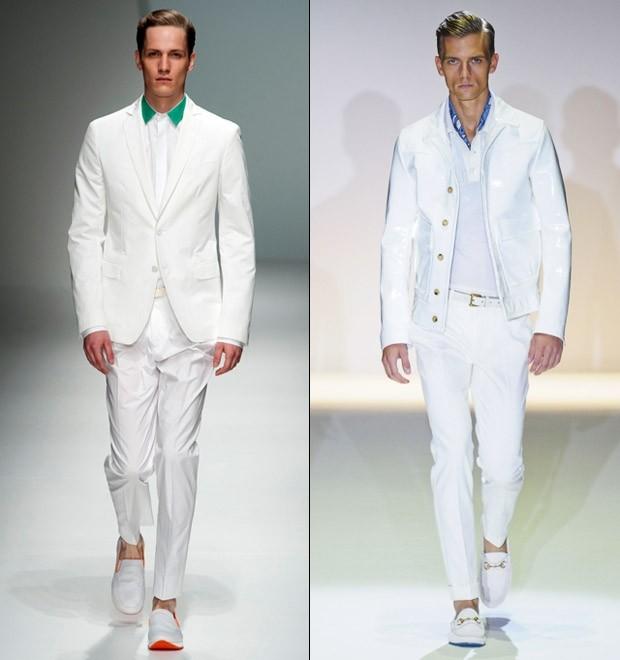костюмы белые брюки и пиджак под мокасины