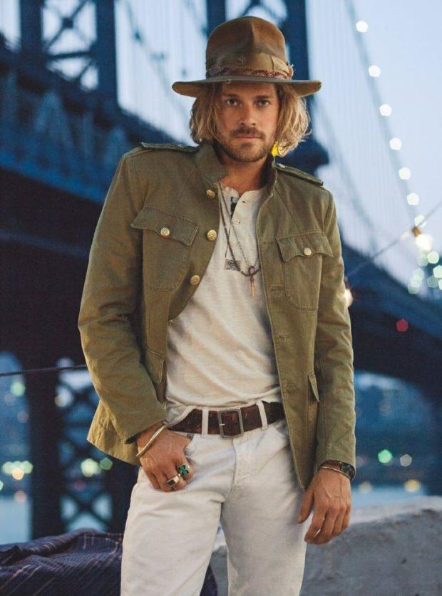 куртка сафари штаны белые