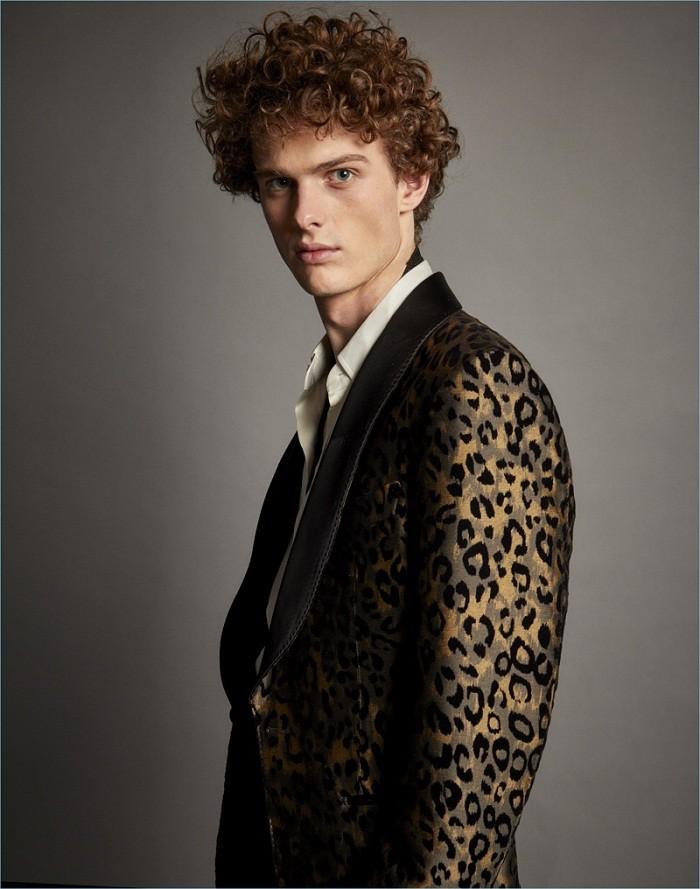 пиджак в леопардовый принт