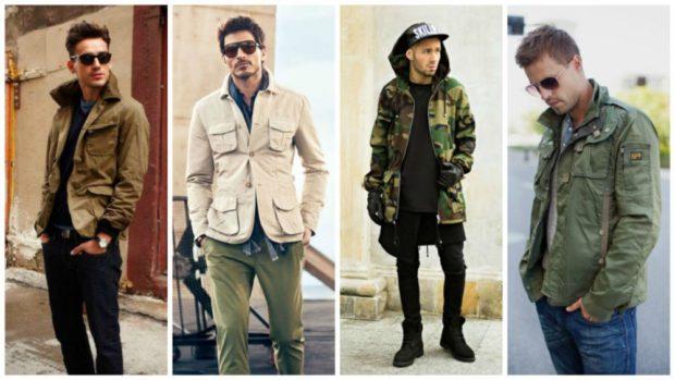 стиль милитари курточки под джинсы