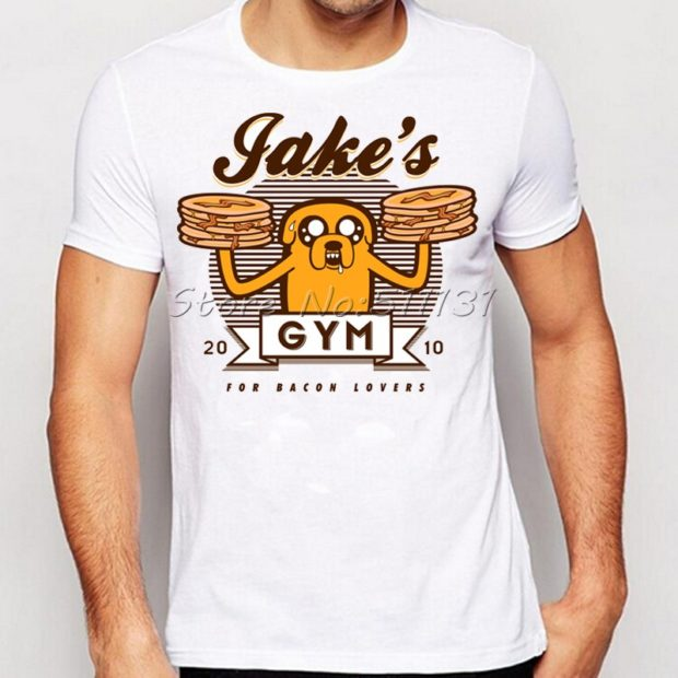 футболка белая с мультяшкой