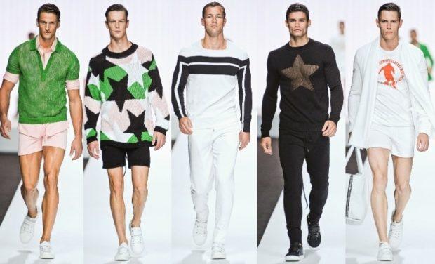 стиль спортивный шик шорты короткие кофты объемные белые штаны и кофта