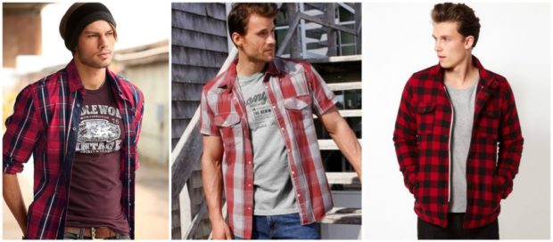 рубашки в клетку на футболки