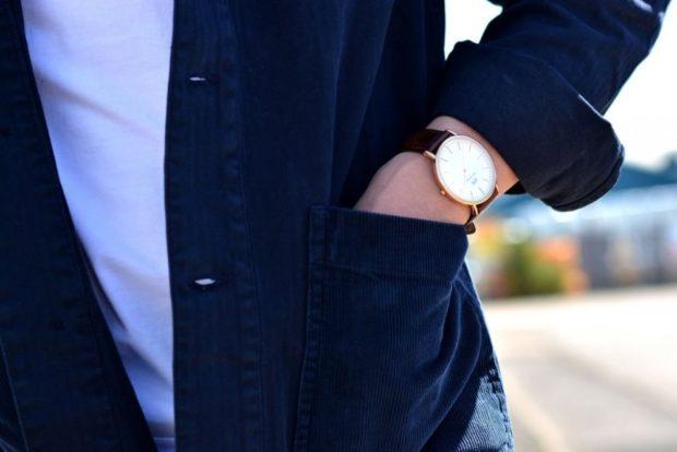 классика золотой корпус кожаный ремень
