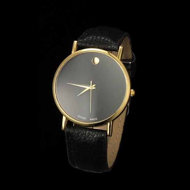 часы классика черные без цифр