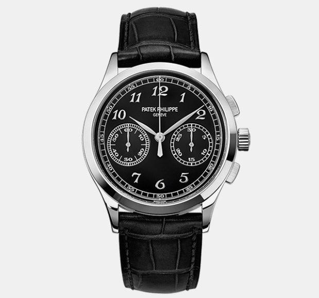 классические часы на кожаном ремне с несколькими циферблатами