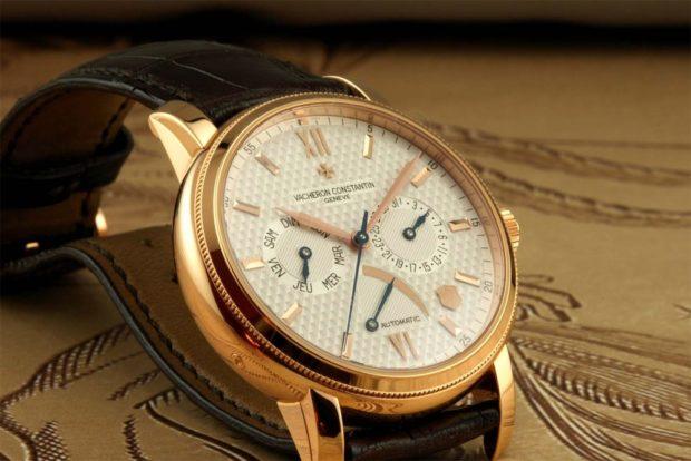 классические часы с золотым корпусом кожаный ремень