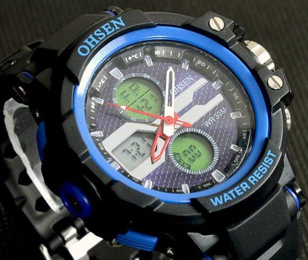 многофункциональные спортивные часы цветные