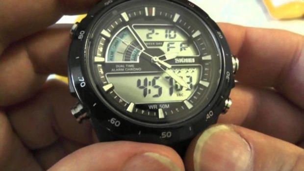 электронные часы черные