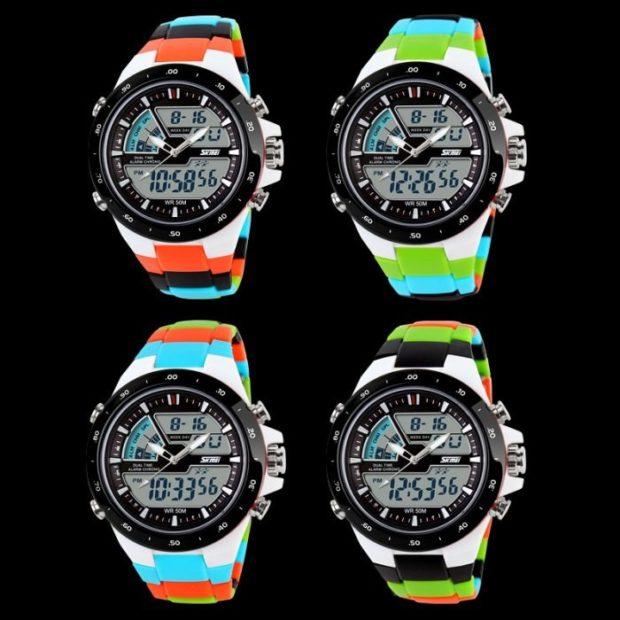 спортивные электронные часы ремень цветной