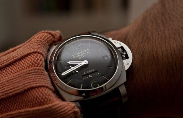 классические часы серебро ремень кожа