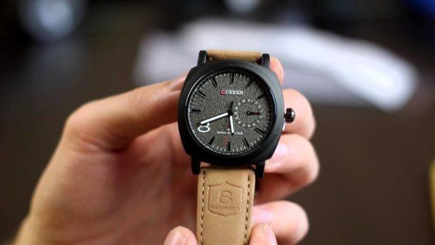ремешок кожаный часы классика