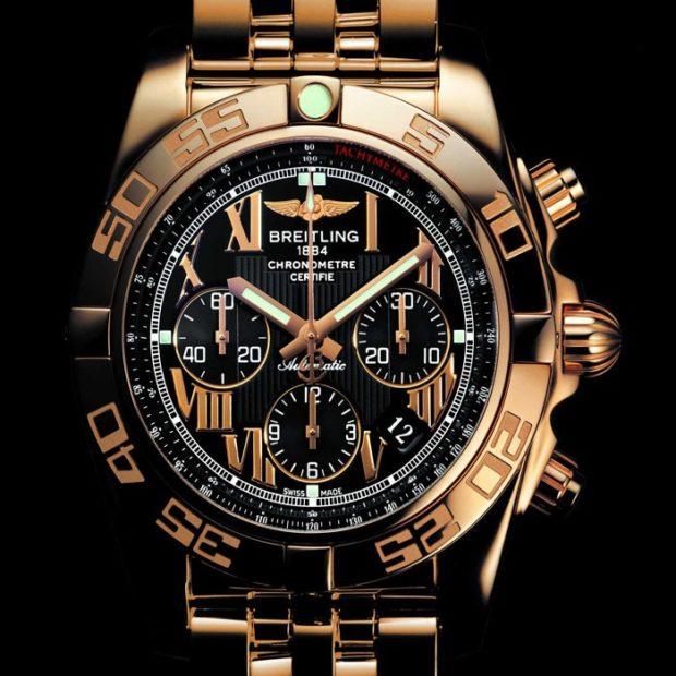 золотые часы ремень металл