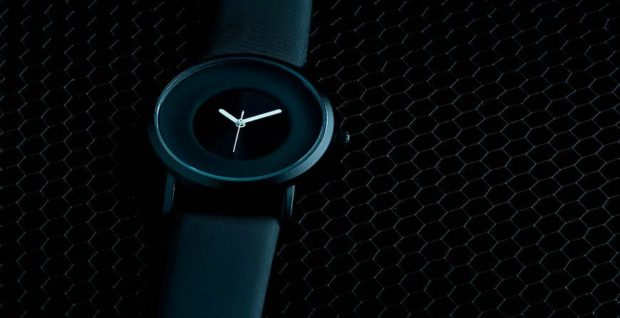 часы минимализм черные без цифр