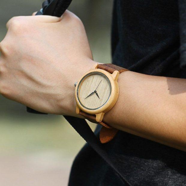 деревянные часы минимализм
