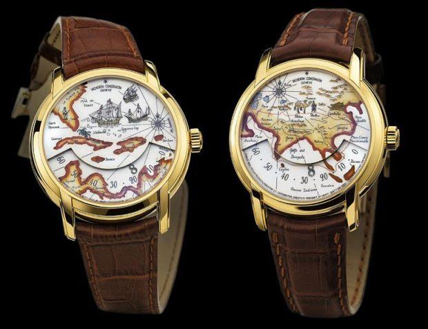 часы bi-color кожаный ремень циферблат с картой