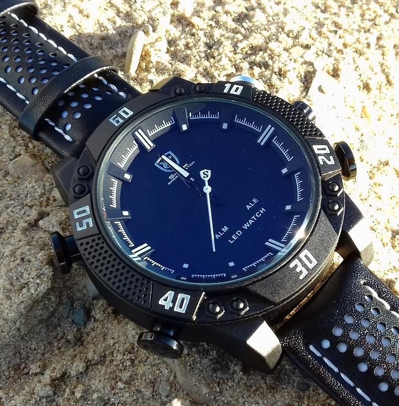 bi-color часы синие с черным