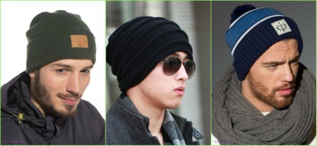 мужские головные уборы зима 2019-2020: шапки трикотажные