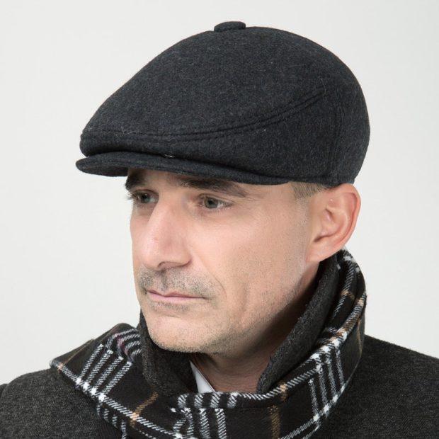 мужские головные уборы зима 2019-2020: фетровая кепка