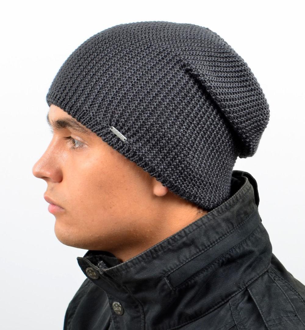 шапка бини серая