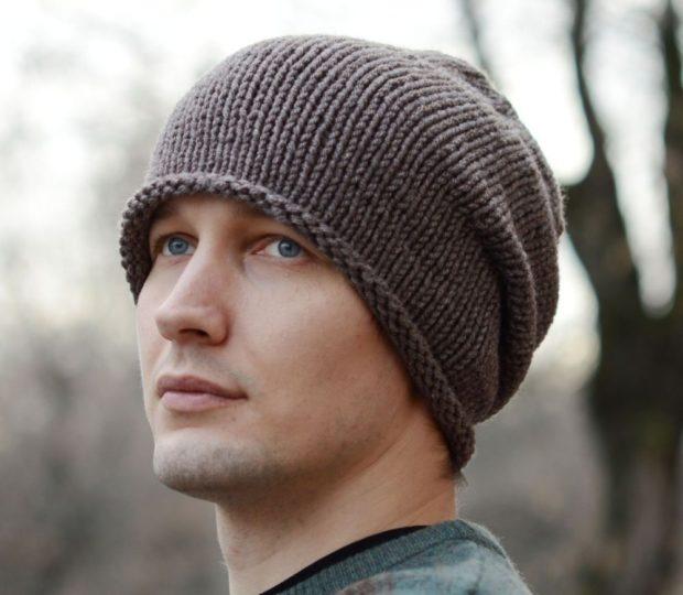 2031b65adbb мужские головные уборы зима 2019-2020  вязанная шапка коричневая объемная