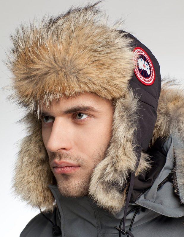 головные уборы мужские зима 2019-2020: шапка ушанка мех внутри сверху ткань