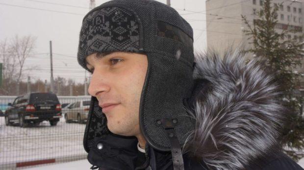 головные уборы мужские зима 2019-2020: шапка ушанка серая тканевая