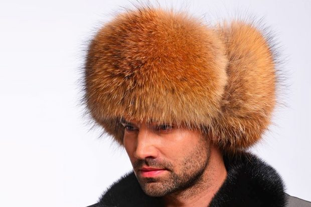 головные уборы мужские зима 2019-2020: шапка лиса объемная