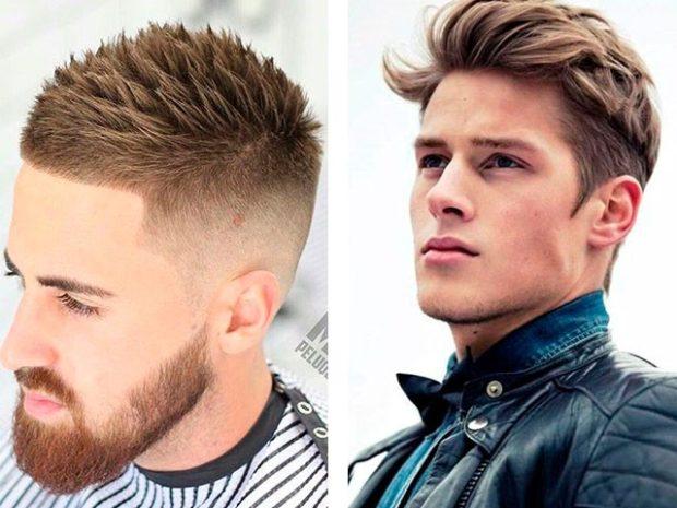 прически мужские: выбритые виски ирокез сверху укладка на среднюю длину волос