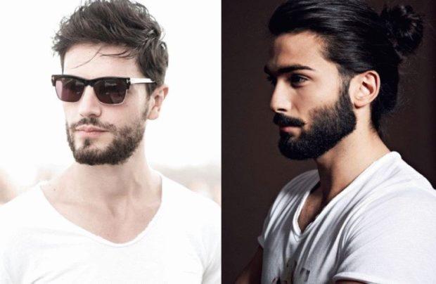 модные мужские стрижки волос тенденции: хаотичная укладка волосы в хвостик