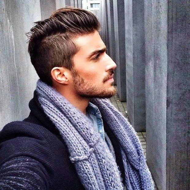 мужские прически модные тенденции: Undercut средняя длина