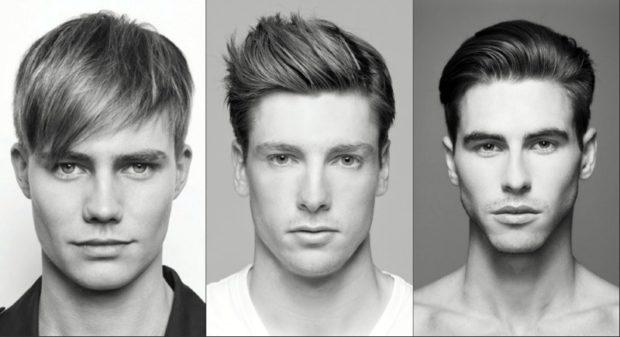 модные мужские стрижки волос тенденции: британка с разный типом укладки